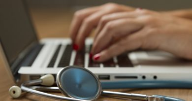August 22, 2014  Photos of a stethoscope, laptop, smartphone, and medical professional.
